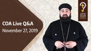 fr_Antony_Live Q&A Nobember 27, 2019