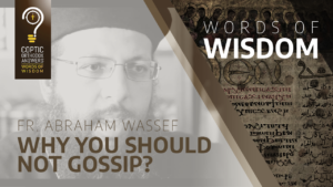 Why you should not gossip_Fr. Abraham Wassef
