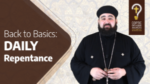 Back to Basics How do I offer repentance daily